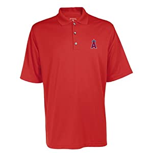 Los Angeles Angels MLB Exceed Mens Polo (Dark Red) by Antigua