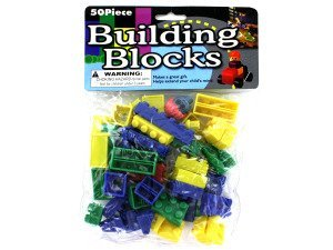 SET OF 2- 50 PIECE BUILDING BLOCKS STACKING TOY SET 100 PC TOTAL
