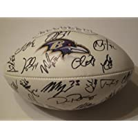 2012 Baltimore Ravens Team Signed Autographed Football Authentic Certified COA Ray Rice , Ray Lewis , Ed Reed Many More
