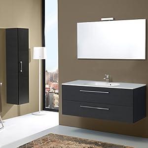 Mobile bagno da 120 cm con due cassetti boston in tanner for Amazon mobili bagno