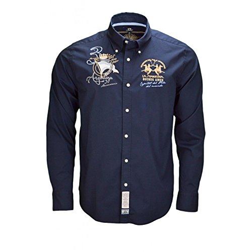 la-martina-mens-casual-shirt-small-blue