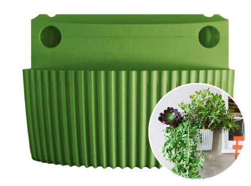 Living Wall Planter, Vertical Garden, Indoor/Outdoor by Woolly Pocket (works indoors and outdoors) (Color: Green) Living Wall Planter Vertical Garden (Modular, Sustainable, Recycleable) Hanging Wall P