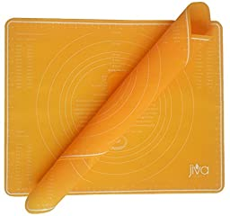 Silicone Pastry Mat with Measurements! 2 Large Non Slip Baking Mats are 19  x 15  inches each!