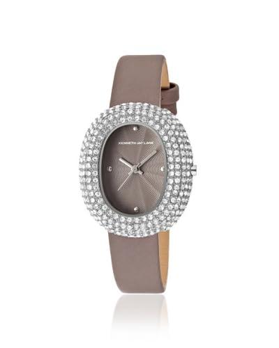 Kenneth Jay Lane Women's 2409S-014 Gray Leather Watch