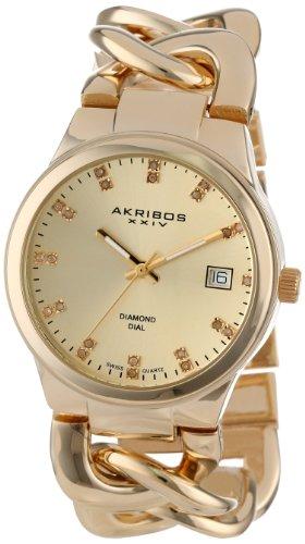 Akribos XXIV AK608YG 38mm Metal Case Metal Synthetic Sapphire Women's Watch