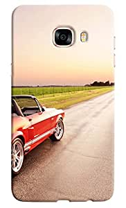 Omnam Car Heading Towards Road With Silver Alloys Designer Back Cover Case For Samsung Galaxy C7