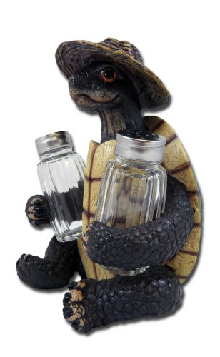 Turtle Soup Salt and Pepper Shaker Set - Green Tortoise Box Sea Turtles
