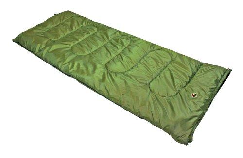 Ledge Sports Ridge +30 Classic Rectangular Sleeping Bag With Stuff Sack (75 X 30, Green) front-518330