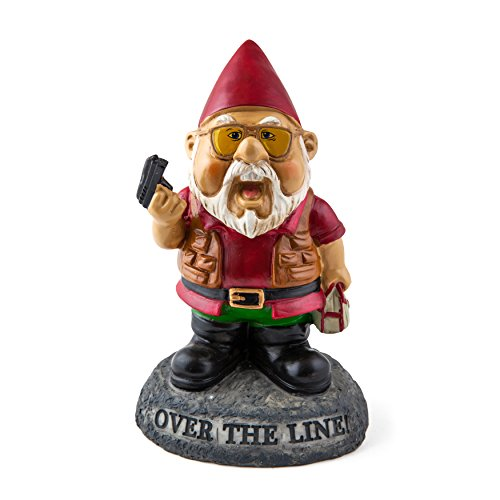 "BigMouth Inc ""Over the Line!"" Garden Gnome Statues"