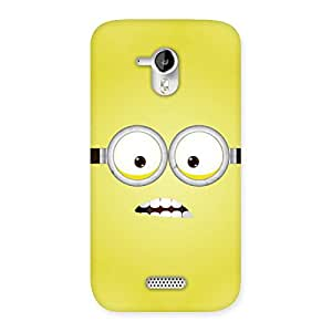Stylish Yellows Fun Back Case Cover for Micromax Canvas HD A116