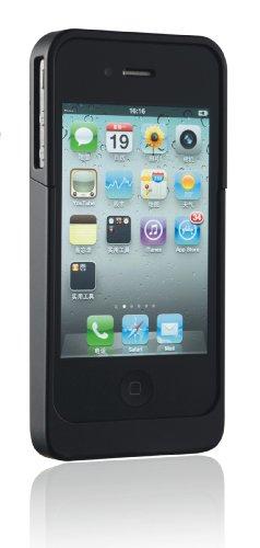 iPhone4用バッテリー付きプロテクトケース1700mAh ブラック PC1700B