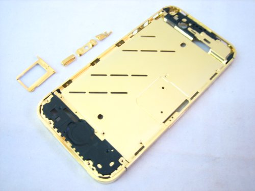 iPhone 4S ~ Middle Metal Gold Cover Housing+Side Buttons ~ Mobile Phone Repair Part Replacement (Iphone 4s Metal Housing compare prices)