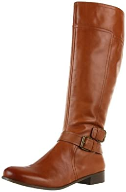 Nine West Women's Shiza Knee-High Boot,Cognac Austin Leather,5 M US
