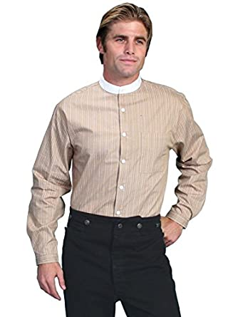 Steampunk Mens Shirts Padre Stripe Long Sleeve Shirt  AT vintagedancer.com