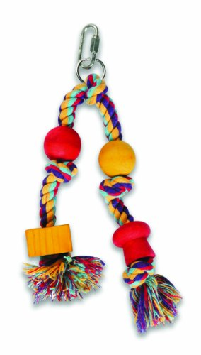 Cheap Multi Pet Twin Hanger Small Sisal Rope and Wood Bird Toy (B000BF6TZE)