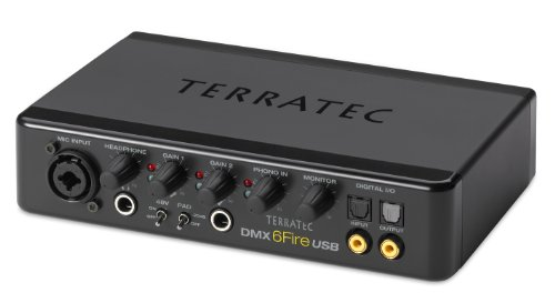 Review and Buying Guide of Cheap TerraTec SoundSystem DMX 6Fire External USB Sound Card 24 Bit 192 KHz with 4 RCA In-/6 RCA Outputs Phono Preamp Headphone Connection