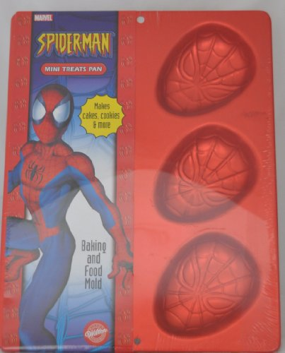 Wilton Spiderman Mini Cookie Treats Brownie Cupcake Muffin Spider-man Cake Pan Mold (2105-5054, 2004) ~ 6 Cavity (Spider Man Cake Pan compare prices)