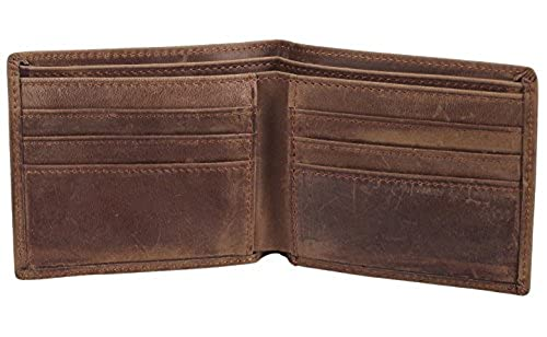 03. Polare Men's Vintage Italian Genuine Leather Slim Bifold Wallet Handmade