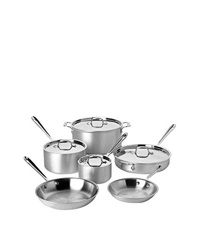 All-Clad 700508 MC2 10-Piece Stainless Steel Cookware Set