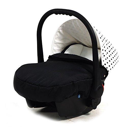 """knorr-baby 33700-1 Autositz Voletto """"Tupfen"""", weiß/schwarz"""