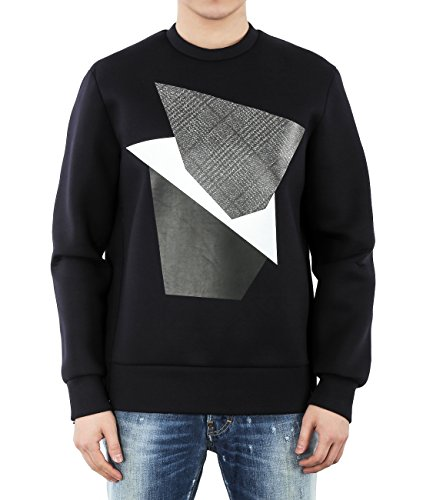 wiberlux-neil-barrett-mens-neoprene-geometric-print-side-zip-sweatshirt-s-navy