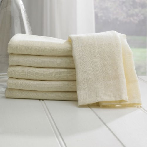 Lollipop Lane Muslin Squares (Cream, Pack Of 6) front-761057