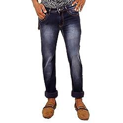 Hasasi Denim Men's Regular Fit Jeans - IBU30048-Jeans-Blue-34