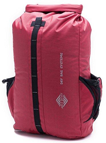 """Aqua-Quest - Zaino impermeabile """"The Sport"""", 30 litri, rosso  (rosso), 30 litri"""