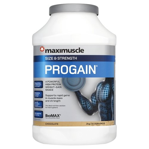 Maximuscle Progain 2000 g Chocolate Size and Strength Shake Powder