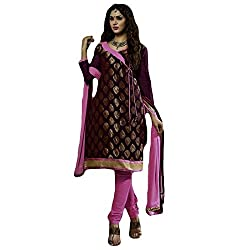 Typify Women's Chanderi Unstitched Dress Material (TYPIFY214_Multicolor_Free Size)