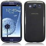 Samsung i9300 Galaxy S3 TPU Gel Skin Case / Cover - Smoke Black