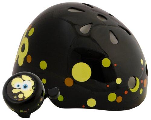 Spongebob Unisex-Child Hardshell Helmet with Bell (Black)