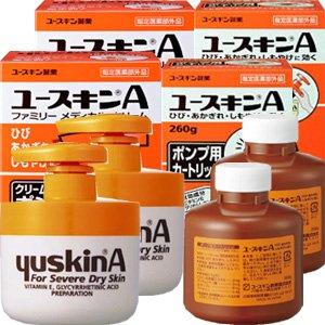 ユースキンA ポンプ 260gx2個+カートリッジ260gx2個 本体2個と詰替え2個セット
