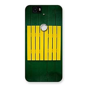 Green Squares Yello Back Case Cover for Google Nexus-6P