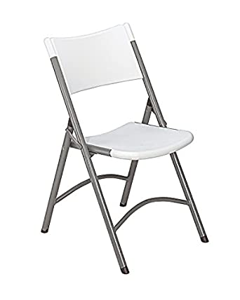 National Public Seating 600 Series Steel Frame Blow Molded Resin Plastic Seat and Back Folding Chair with Double Brace, 300 lbs Capacity, Speckled Gray/Gray (Carton of 4)