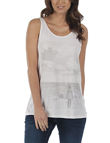 Bench HURDLE-Tank Top Donna    Weiß (Bright White WH001) 46