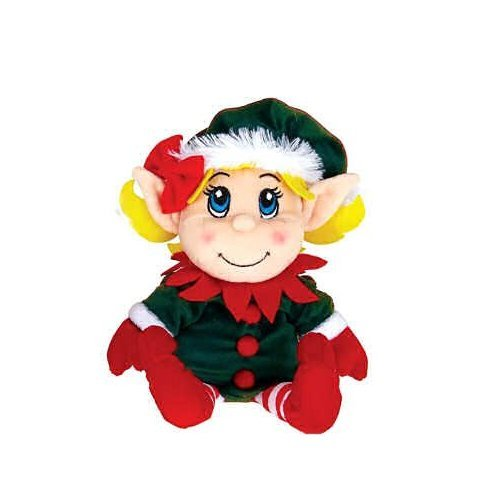 "Fiesta Toys 11"" Plush Santa's Secret Elf Girl"