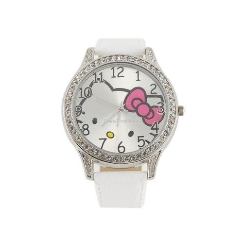Hello Kitty Quartz Electronic Waterproof Girls Kids White Watch