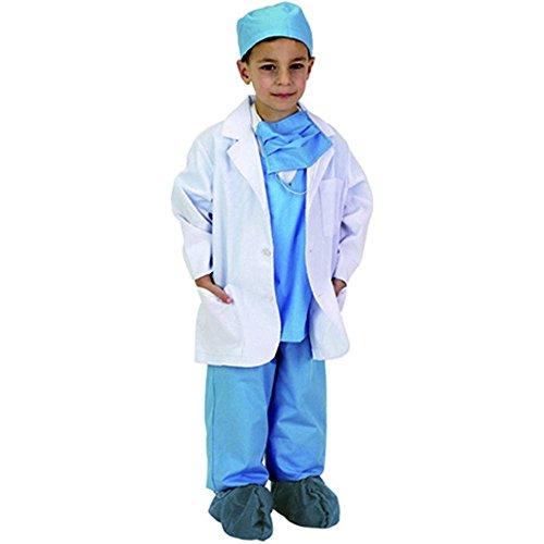 Kids White Doctor Lab Costume Coat