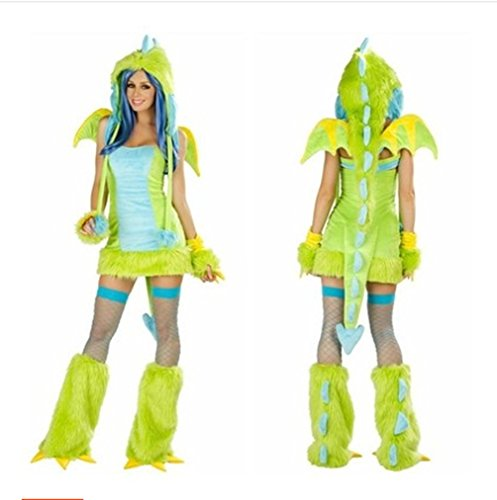 New Funny Cosplay Pikachu Clothing Chameleon Demon Christmas Party Clothes-Green