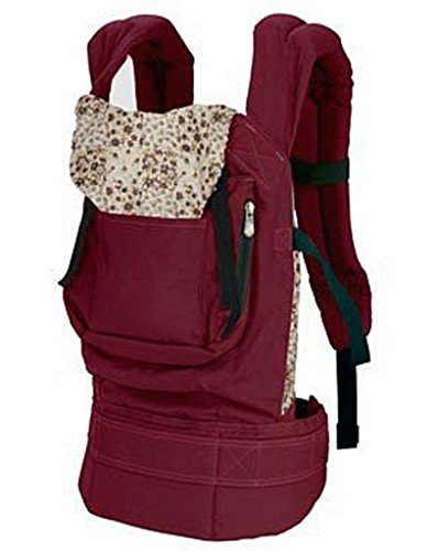 Cotton Baby Carrier Infant Comfort Backpack Buckle Sling Wrap Full Pad Adjustable Red front-987900