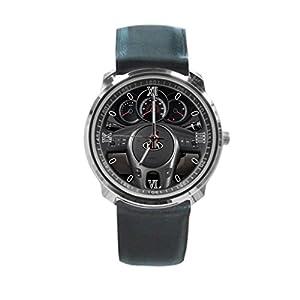 Queen Ali Custom 2010 Kia Forte 4 Door Sedan Auto EX Steering Wheel Men's and Women's Sport Watches Business Watch With Leather Band