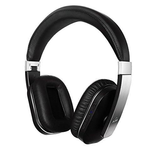 iDeaUSA Bluetoothヘッドホン ワイヤレスヘッドホン/Apt-X搭載/アジャスター/マイク/折畳み型 Silver