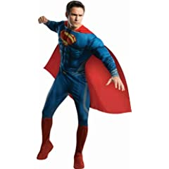 Rubies Costume Man Of Steel Deluxe Adult Muscle Chest Superman Costume