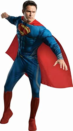 Rubie's Costume Man Of Steel Deluxe Adult Muscle Chest Superman, Blue/Red, X-Large Costume
