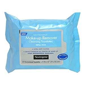 Neutrogena Make-Up Remover Cleansing Towelettes, Refill Pack, 25-Count Packs (Pack of 3)