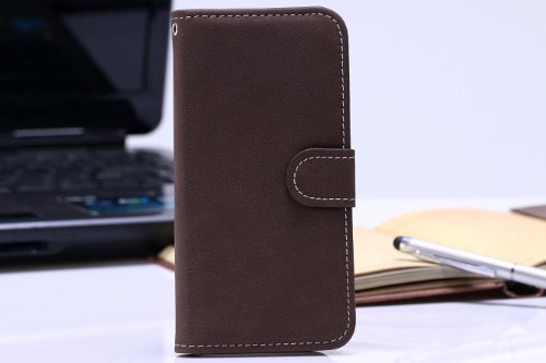 """Luv You Iphone 6 4.7"""" Case,Brown Vintage Trend Retro Style Lv-Yo Design Style Beautiful High Quality Luxury Premium Pu Leather Feature Flip Magnet Wallet Stand Smart Case Cover Protective With Id Credit Card Holder Slots Cute Case Fit For Apple Iphone Ver"""
