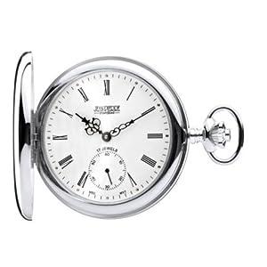 Jean Pierre Sterling Silver Full Hunter Mechanical Pocket Watch G152
