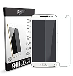 MTT Tempered Glass Screen Protector Guard for Moto G4 Plus