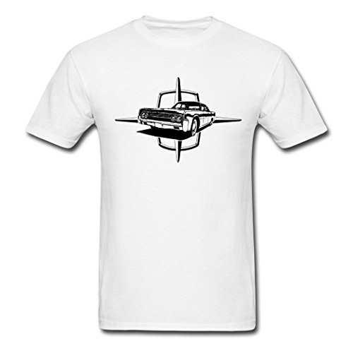 MingSe Custom Printed Men's Auto Lincoln Star And Car T-Shirts White XXL (Lincoln Auto Apparel compare prices)